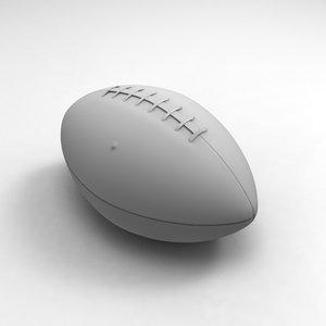 football ball american 3d model