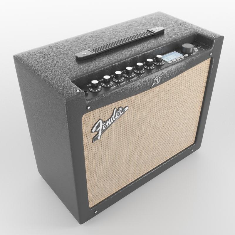 amplifier fender 3d model