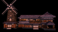 Japanese old Tradition House 009