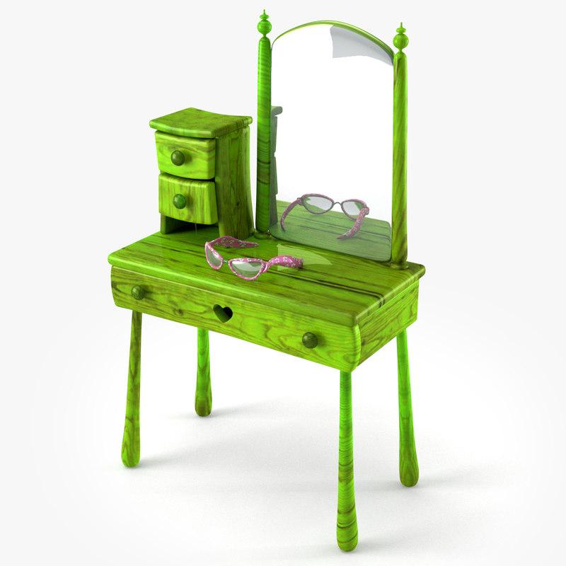 3d doll make table model