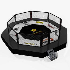 3d fighting octagon arena
