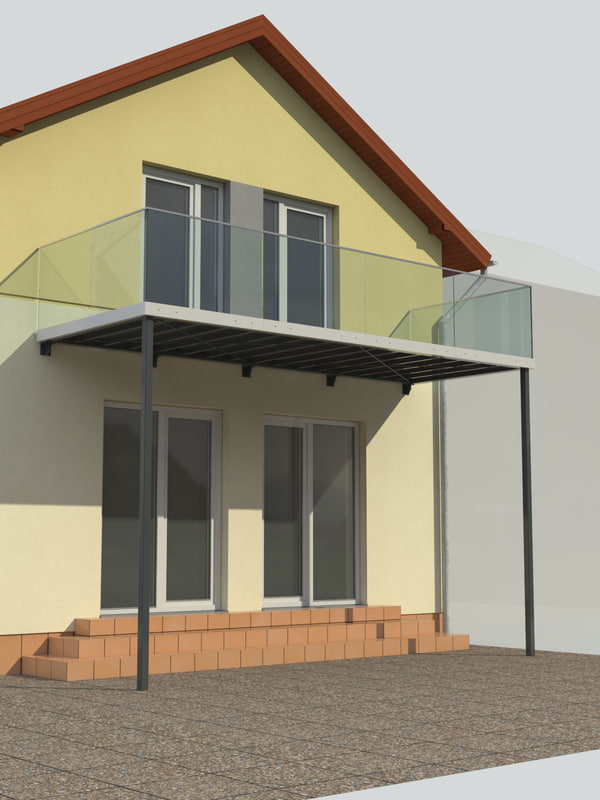 balcony steel subtle 3ds