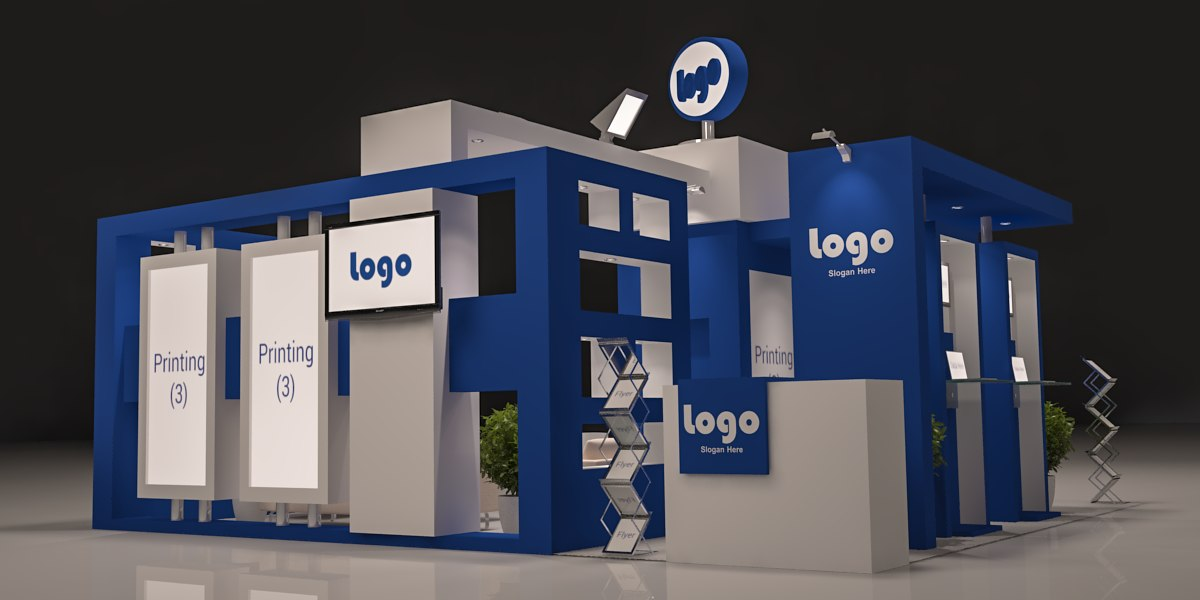 3d Exhibition Design Software : D model of exhibition booth design