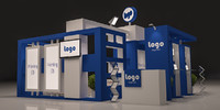 3d model of exhibition booth design
