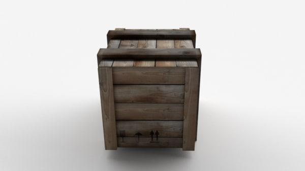 3d model wooden box