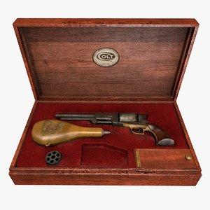 colt walker 1847 3d model