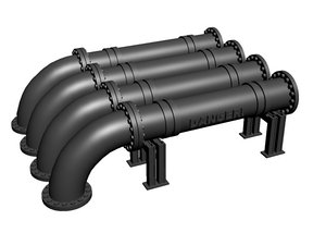 3dsmax pipes industrial scenery