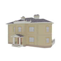 3d model two-story house