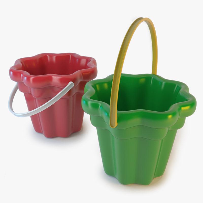 toy bucket 3d c4d