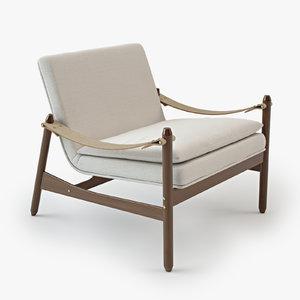 3d poltrona ipanema lounge chair