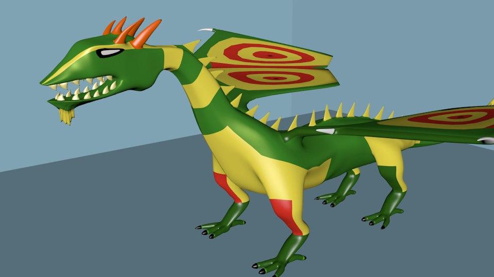maya dragon cartoon