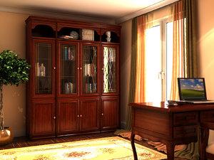 3d model of cabinet classic