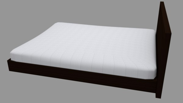 obj bed wooden