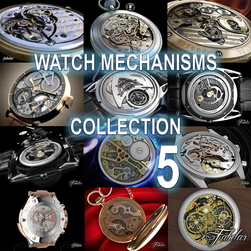 3d watch mechanisms 5 model