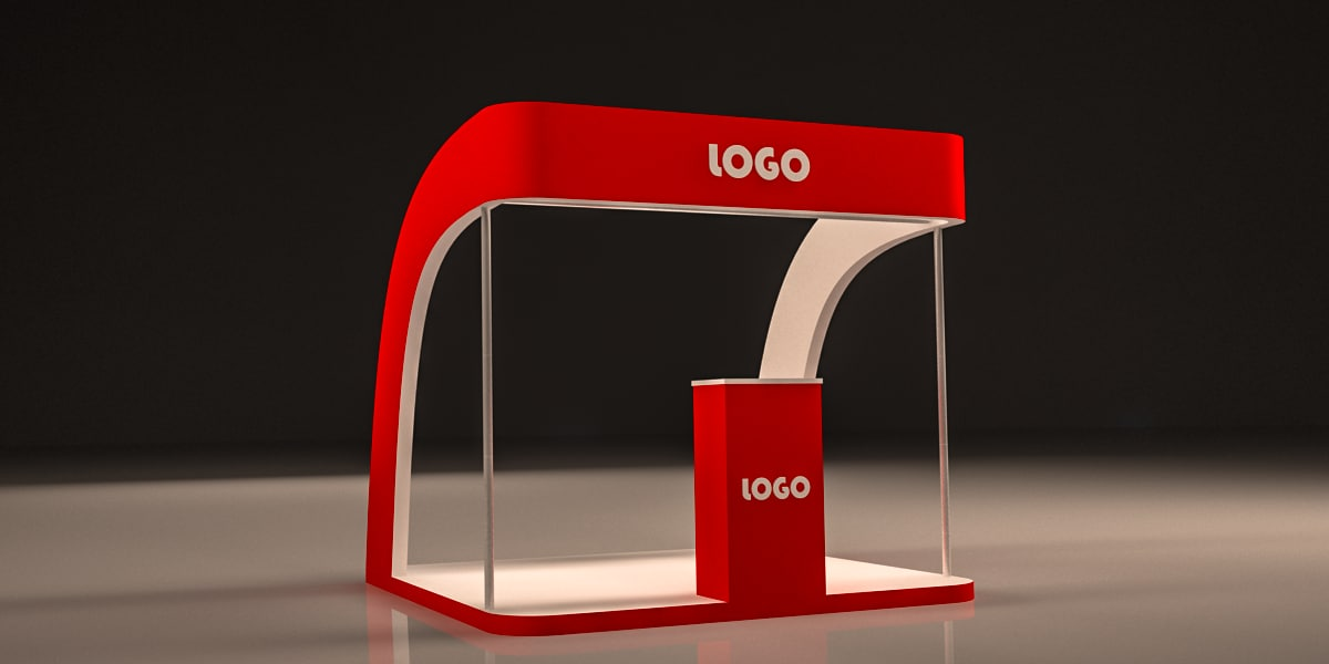 Exhibition Booth Obj : Exhibition booth design d model