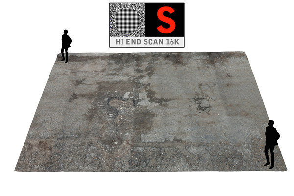 parking surface scanned 3d model
