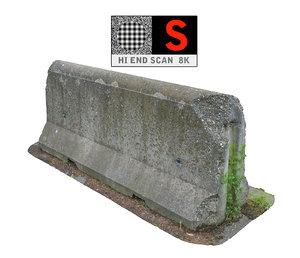 obj concrete barrier scan 8k