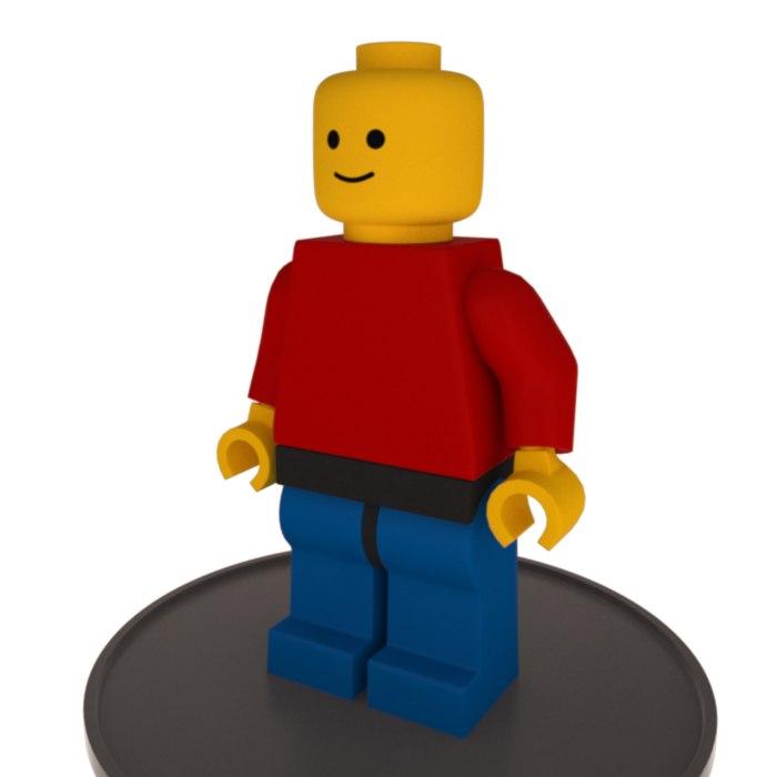 lego minifigure rigged max