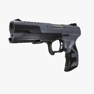 gun modeled real 3d max