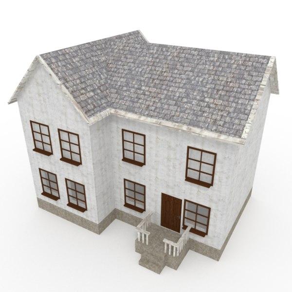 3d city house model