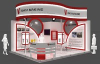 fair stand exhibition 3d model