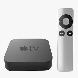 apple tv remote 3d 3ds