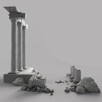 Pilastri danneggiati