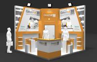 fair stand exhibition 3d max