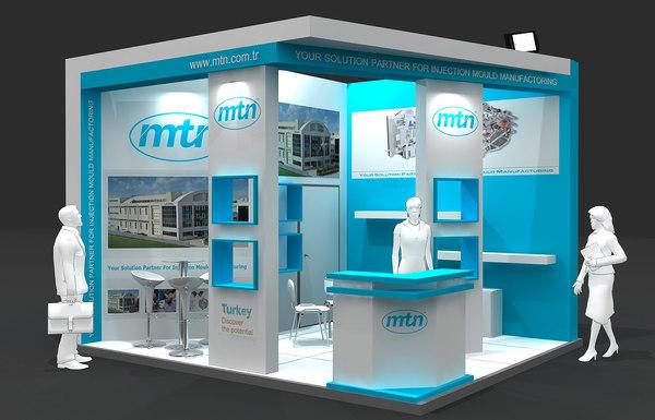 3d fair stand exhibition model