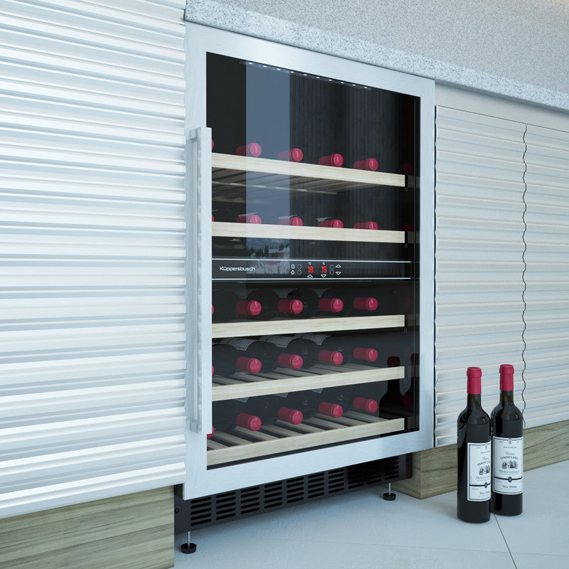 electric wine cabinet kuppersbusch 3d max
