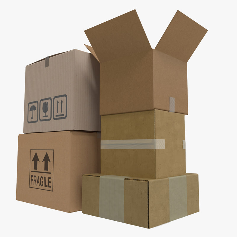 cardboard boxes 2 c4d