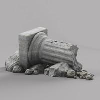Damaged Pillar