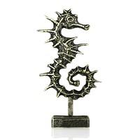 3d bronze seahorse