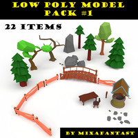 Low poly model pack #1