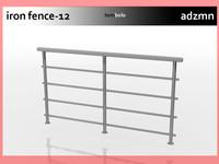 3d iron railing fence model