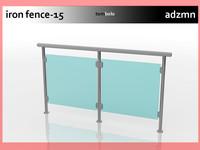 iron railing fence dwg