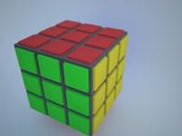 free rubik cube 3d model