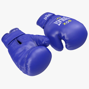 boxing gloves everlast blue 3d model