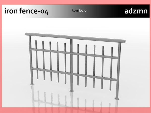 iron railing fence 3ds
