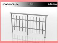 iron railing fence 3ds