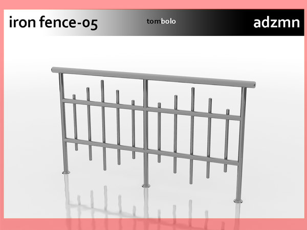 3ds iron railing fence