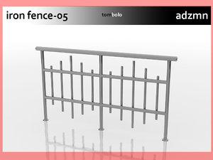 3ds iron railing fence