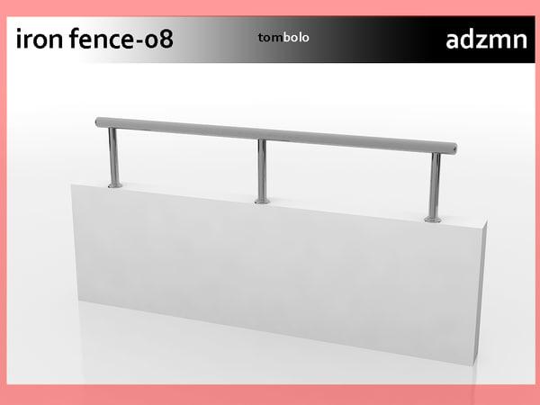 3d iron railing fence
