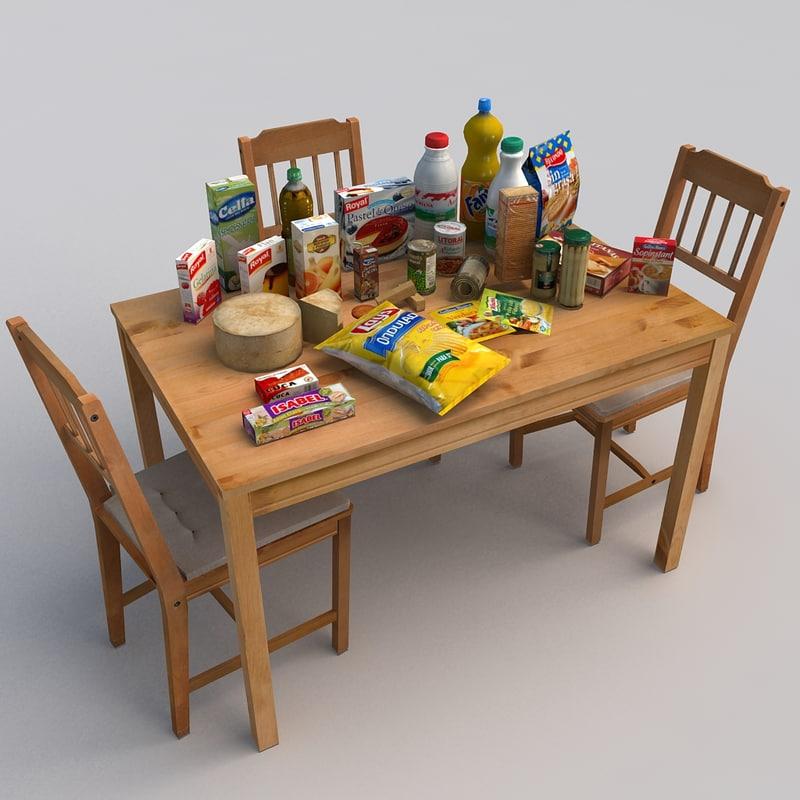 3d model food realtime