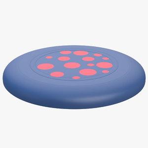 3d model frisbee dots