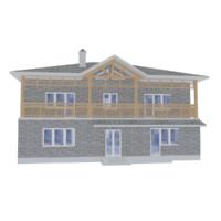 house modeled 3d model