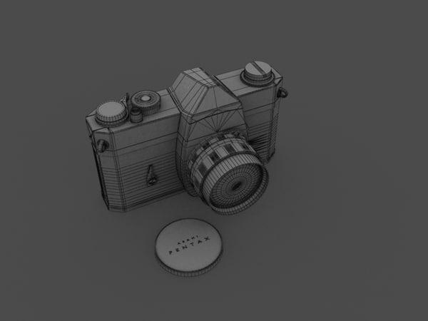3d model pentax spotmatic reflex