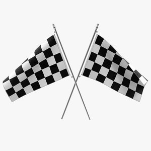 3d racing flag modeled model