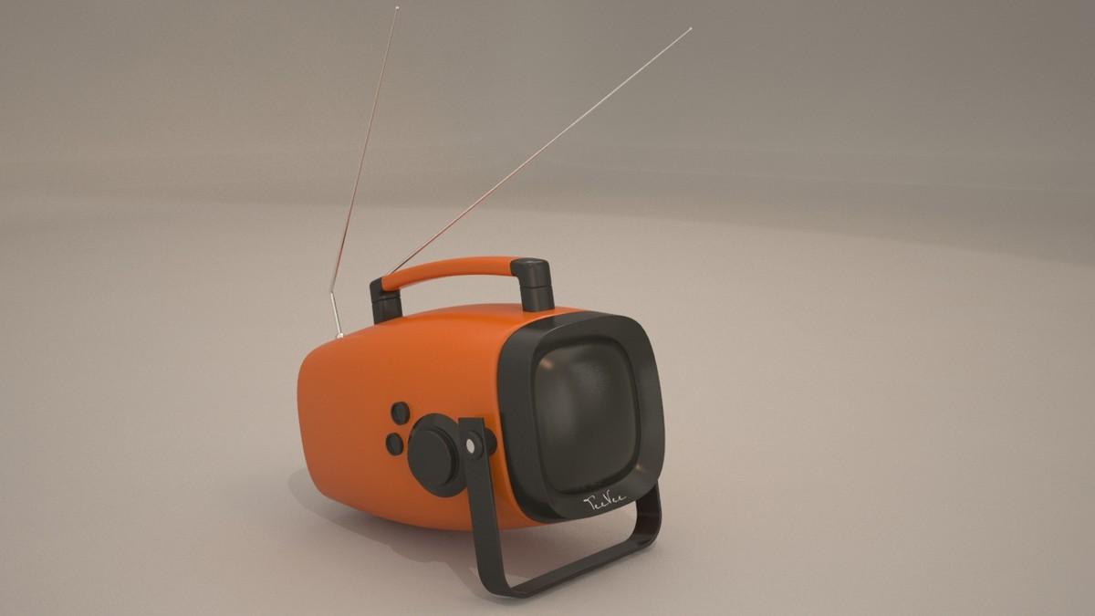 3d model portable tv