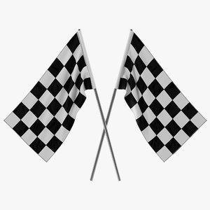 racing flag 3 3d model